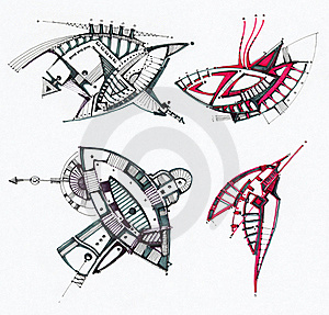 Abstract Geometrical Drawing Stock Photography - Image: 23127812