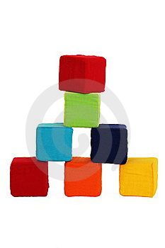 Tower Of Colored Cubes Royalty Free Stock Photos - Image: 23132118