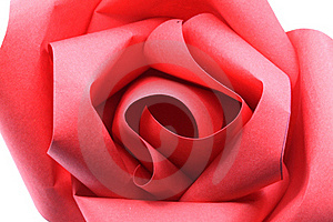 Rose Origami Paper Macro Stock Photo - Image: 23133280