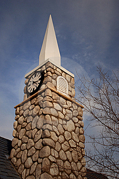 Tall Steeple With Clock Royalty Free Stock Photo - Image: 23134745