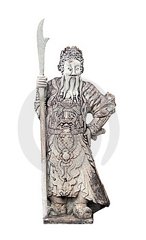Ancient Chinese Warrior Sculpture At Wat Pho Stock Images - Image: 23146974