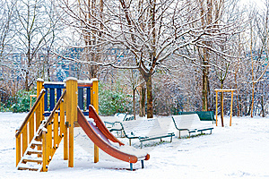 Outdoor Playground Stock Photo - Image: 23148660