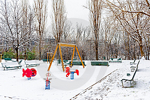 Outdoor Playground Royalty Free Stock Image - Image: 23149536