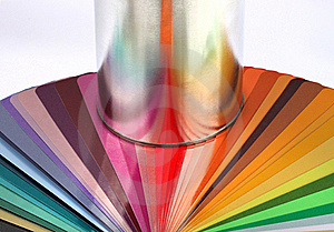 Tin Can Reflect Colour Sample Chart Stock Photography - Image: 23156602