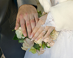 Hand Of Groom And Fiancee Stock Images - Image: 23168774