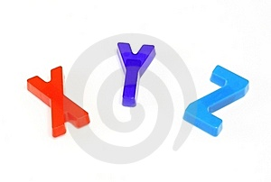 Colorful Alphabet X Y Z Stock Photo - Image: 23171700
