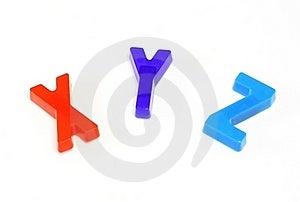 Colorful Alphabet X Y Z Stock Photo - Image: 23171700