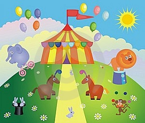 Circus Tent And Animals Royalty Free Stock Image - Image: 23175866