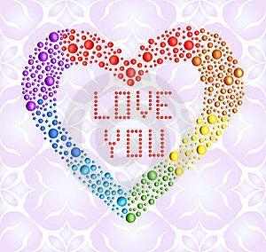 Romantic Iridescent Heart Royalty Free Stock Image - Image: 23180186