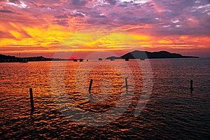 Beauty Landscape With Sunrise Over Sea Royalty Free Stock Image - Image: 23188726