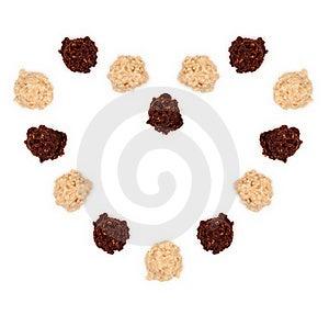 Dark And White Almond Truffle Chocolate Royalty Free Stock Image - Image: 23189456
