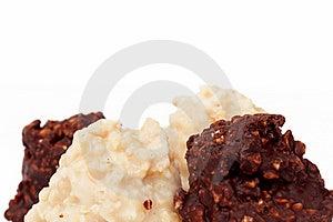 Dark And White Almond Truffle Chocolate Stock Image - Image: 23189481
