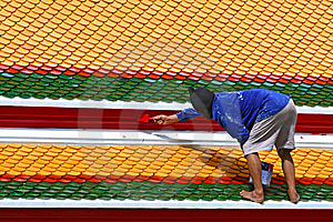 Worker Painting Stock Photo - Image: 23190670