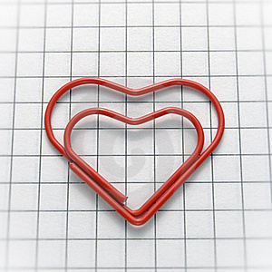 Heart Shaped Paper Clip Royalty Free Stock Image - Image: 23191496