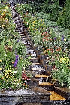 Garden Waterfall Royalty Free Stock Image - Image: 23191746