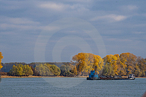 Cargo Ship On A River Royalty Free Stock Images - Image: 23195819