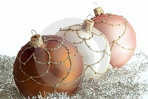 Triad Round Christmas Decorations Royalty Free Stock Images - Image: 23196839
