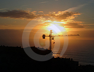 Construction Industry At The End Of The Day Stock Images - Image: 23198324