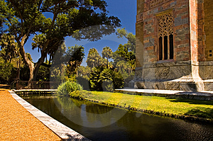Marble Tower And Moat Stock Photography - Image: 2328682