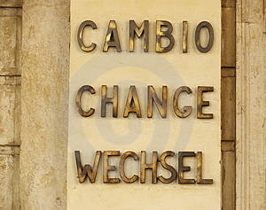 Cambio De La Moneda Imagen de archivo - Imagen: 2328981