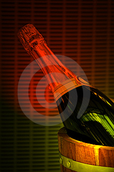 Champagne in the bucket Stock Photography