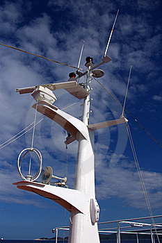Mast Of A Cruse-ship. Stock Photo - Image: 23201620