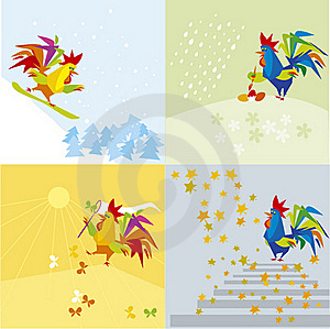 Blue Cock Royalty Free Stock Photography - Image: 23204037