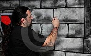 A Man Make A Drawing Stock Photos - Image: 23206173