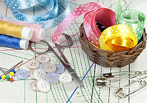 Accessory Of The Tailor Royalty Free Stock Photo - Image: 23207145