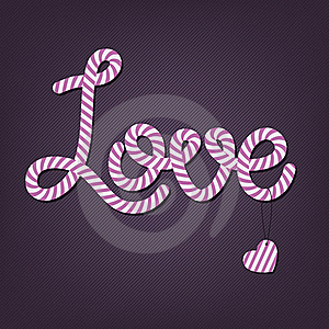Lollipop Valentine's Card Royalty Free Stock Image - Image: 23208856