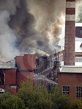Fire In The Building Stock Photos - Image: 23210043
