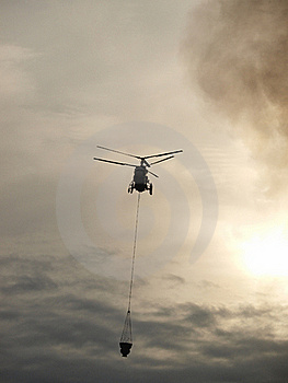Helicopter Fighting Fire Stock Photography - Image: 23210152