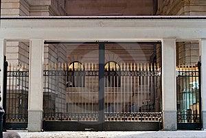 Imposing Gates At Night Royalty Free Stock Images - Image: 23215769