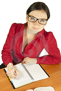 Teacher At The Table Stock Images - Image: 23221504