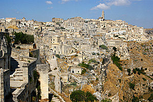 Town Of Matera Italy Royalty Free Stock Image - Image: 23227966