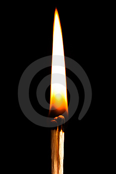 Burning Match Royalty Free Stock Photography - Image: 23228327