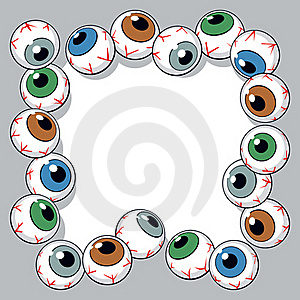 Eyeballs Frame Stock Image - Image: 23245141