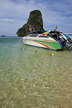 Clear Sea And Boat Stock Images - Image: 23247594
