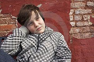 Thinking Boy Stock Images - Image: 23250854