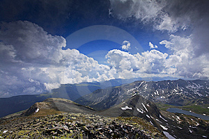 Blue Sky And  Cloud Scenery In High Mountains Royalty Free Stock Photo - Image: 23252195