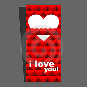 Valentine Day Card Red I Stock Images - Image: 23258614