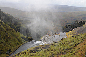 Waterfall In Iceland Royalty Free Stock Image - Image: 23263666