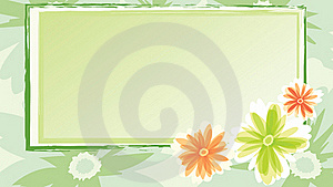 Festive Card With Flowers Stock Images - Image: 23266664