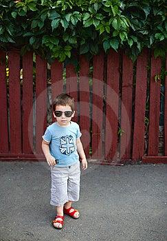 Chłopiec Okulary Przeciwsłoneczne Obraz Stock - Obraz: 23269501