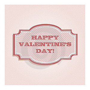 Valentine's Day Card Design Royalty Free Stock Photos - Image: 23276378