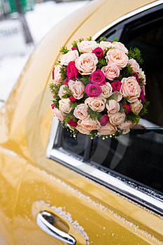 Wedding Bouquet Of Limousine Royalty Free Stock Images - Image: 23277299