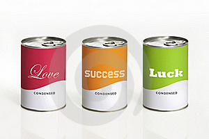 Can With Message Royalty Free Stock Images - Image: 23279089