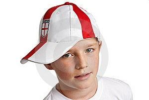 Boy Wearing England Football Cap Stock Photo - Image: 23284490
