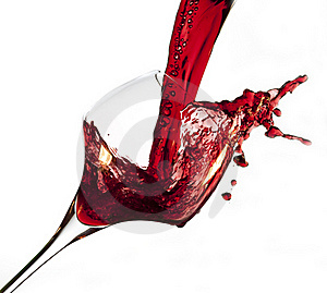 Red Wine Pouring Into Glass Stock Images - Image: 23289714