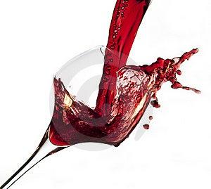 Rode Wijn Het Gieten In Glas Stock Afbeeldingen - Beeld: 23289714